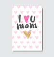 mothers day creative greeting card hand drawn over vector image vector image
