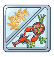 natural food icon cartoon style vector image