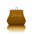 old-fashioned purse vector image vector image