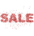 sale lettering from red glitter vector image vector image