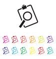 sales analysis icon set vector image