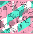 seamless pattern with abstract geometric shapes vector image vector image