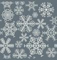 Seamless snowflakes pattern gray and white