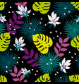 seamless tropical pattern fashion textile pattern vector image vector image