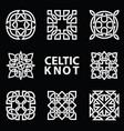 set ancient symbols executed in celtic knot vector image