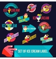 Set of modern ice cream shop badges and labels vector image vector image