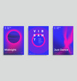 set of trendy abstract design template vector image