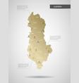 stylized albania map vector image