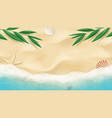 summer horizontal banner with top view on beach vector image vector image