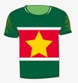 t-shirt flag suriname vector image vector image