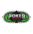 texas holdem poker emblem vector image