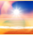 tropical summer sea sunset beach background vector image vector image