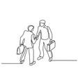 two businessmen meeting handshake vector image vector image