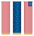 usa wall hangings vector image vector image