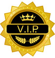 vip gold badge vector image vector image