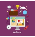 webinar and online learning concept vector image