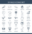 wild icons vector image vector image