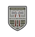 woodworking company vintage isolated label vector image vector image
