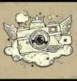 Grunge photocamera Design vector image