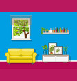 a colorful living room vector image