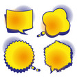 a set of comic bubbles with halftone shadows vector image
