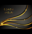 abstract black gold metallic wavy banner vector image
