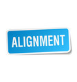 alignment square sticker on white vector image vector image