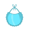 Baby bib icon cartoon style vector image vector image