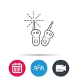 Baby monitor icon Nanny for newborn sign vector image vector image