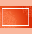 background template with mandala designs vector image vector image
