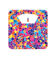 bathroom scale sign stained glass icon on vector image