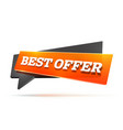 best offer sign vector image vector image