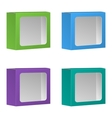Blank Product Package Box With Window Set vector image vector image