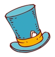 Blue Cylinder Hat vector image