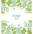 blue forget me not flowers vector image vector image