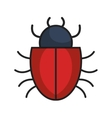 bug alert isolated icon vector image