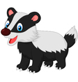 Cartoon animal badger vector image