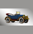 cartoon retro vintage luxury convertible car vector image