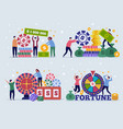 casino lottery concept characters lucky gamers vector image
