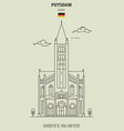church of st paul and peter in potsdam vector image