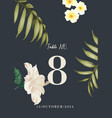 coctail party invitation with tropical flowers of vector image vector image