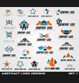 collection of creative logos design for brand vector image