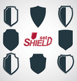 Collection of grayscale defense shields vector image vector image