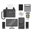 Computer office equipment vector image vector image