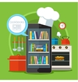 Concept of searching for recipes in web vector image