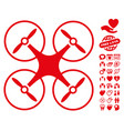 copter icon with lovely bonus vector image vector image