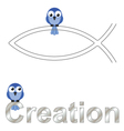 Creation text vector image vector image