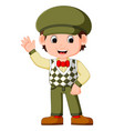 cute boy cartoon posing vector image vector image