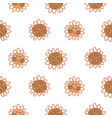cute sunflowers with faces pattern vector image vector image