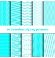 Cyan Seamless Chevron Patterns vector image vector image